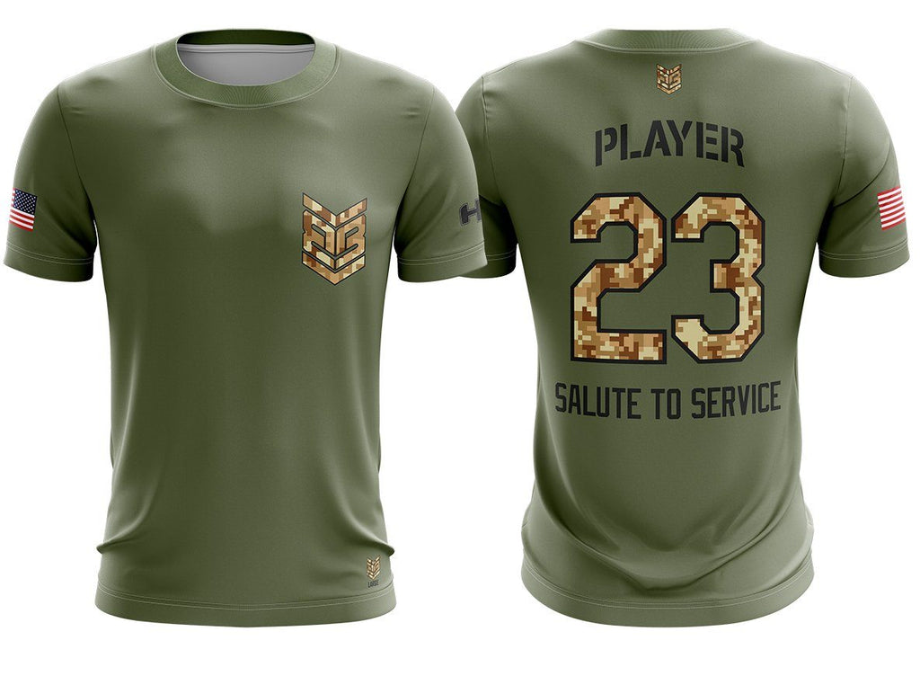 "Banger Brand ""Salute to Service"" Custom Short Sleeve Jersey Buy In"