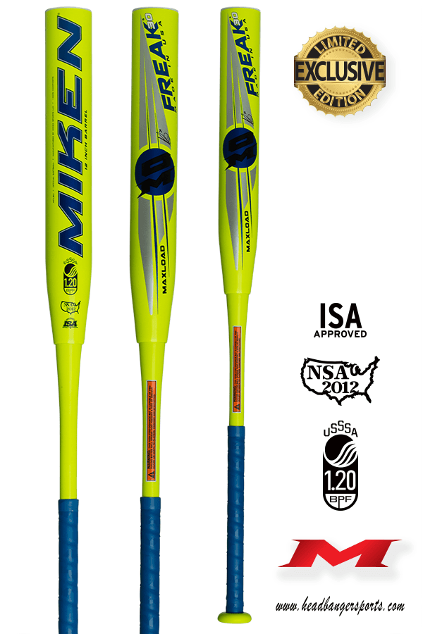 2018 Blast from the Past Miken Freak 30 Maxload USSSA Slowpitch Softball Bat: MFILBU at headbangersports.com