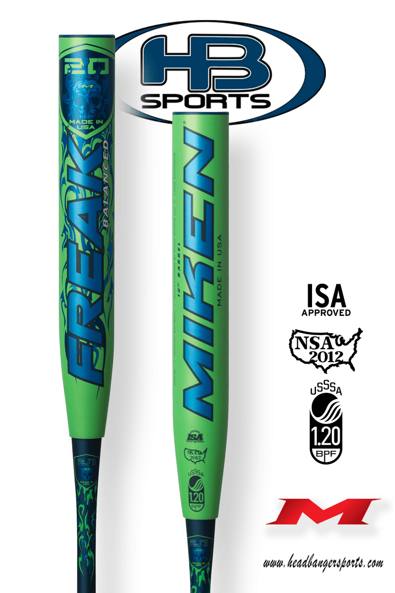 "2018 Miken Freak 20th Anniversary 12"" Balanced USSSA Slowpitch Softball Bat: M12FRK at headbangersports.com"