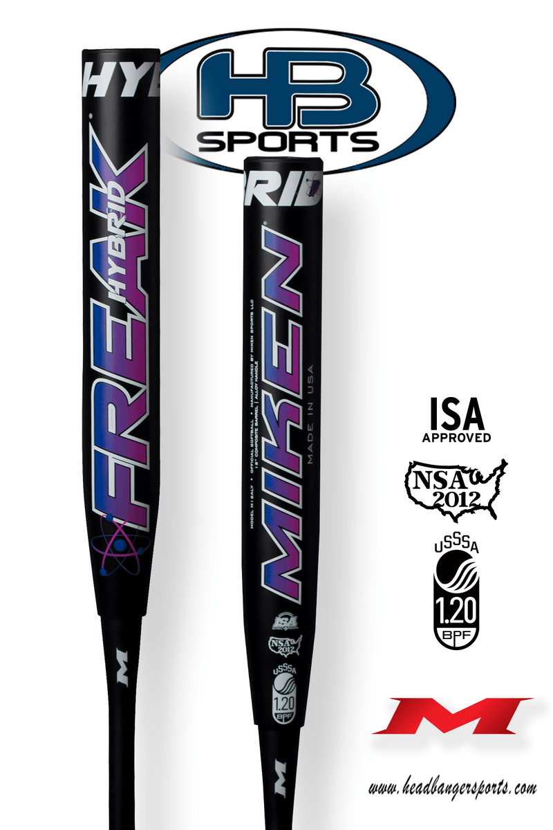 "2018 Miken Freak Hybrid 12"" Maxload USSSA Slowpitch Softball Bat: M12ALY at headbangersports.com"