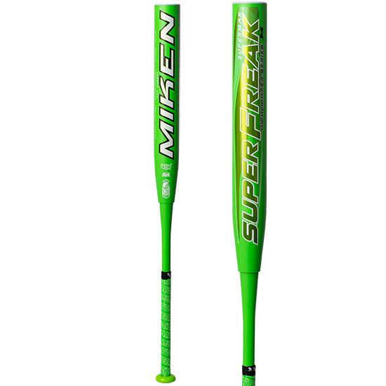 "2020 Miken Super Freak Supermax Highlighter USSSA 14"" Slowpitch Softball Bat: MHS14U at headbangersports.com"
