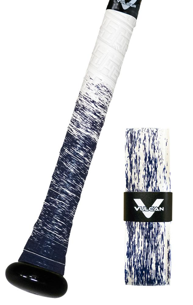Navy Splash Vulcan Ultralight Bat Grips: Fade Series white and blue