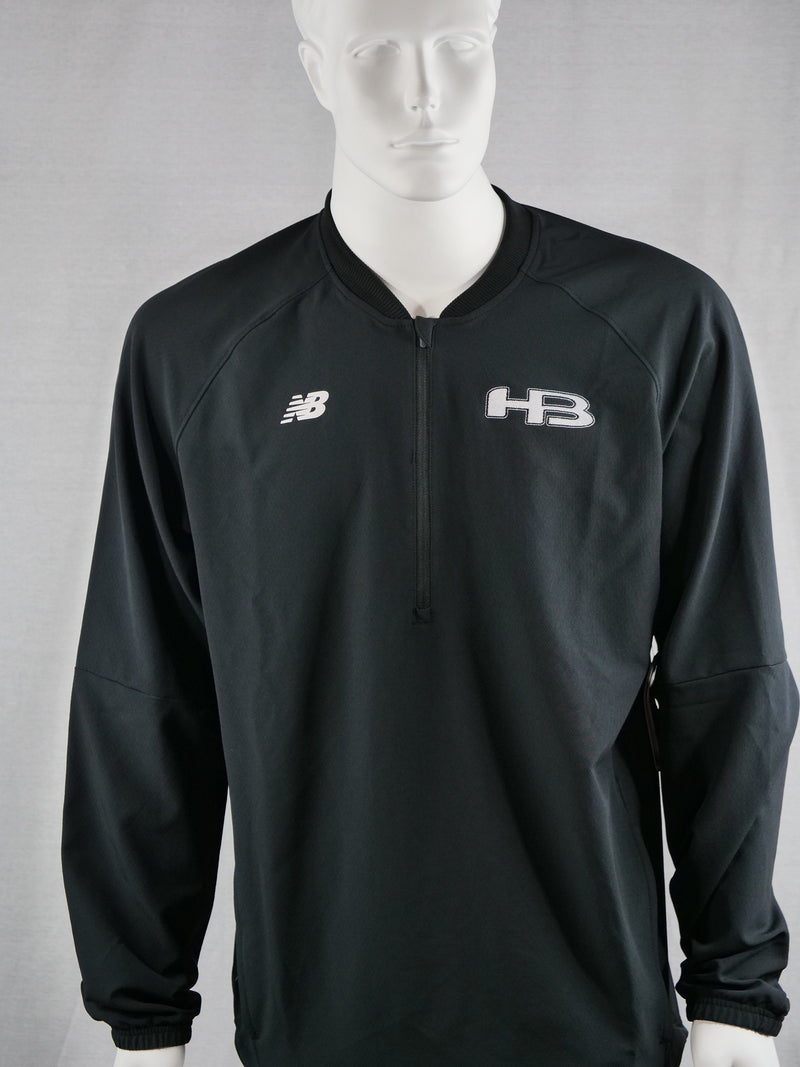 New Balance Mens Long Sleeve Black 3000 Batting Jacket: MT73705