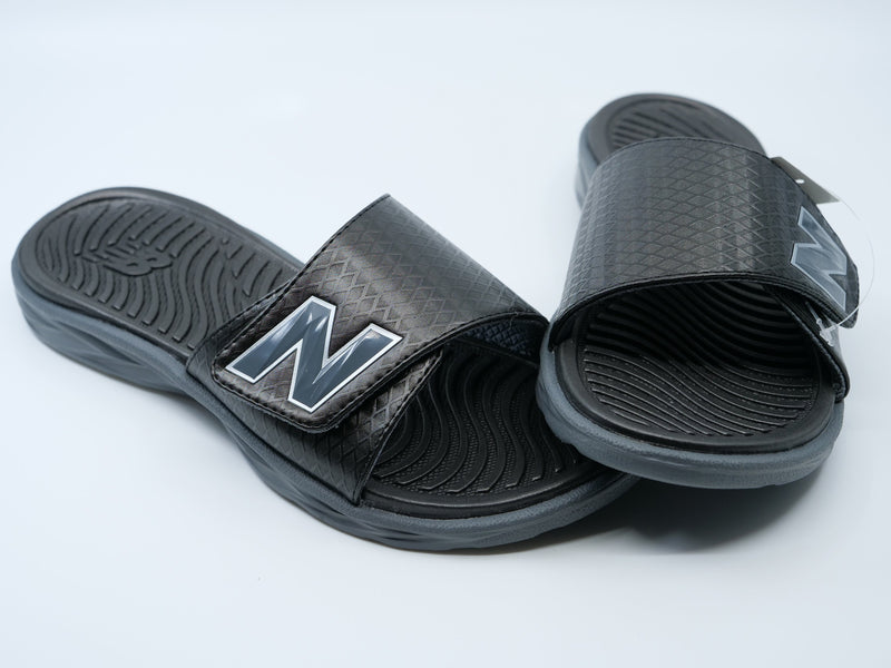 New Balance Men's Black 3067 Response Slide Sandals at headbangersports.com