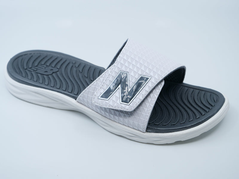 New Balance Men's White 3067 Response Slide Sandals at headbangersports.com