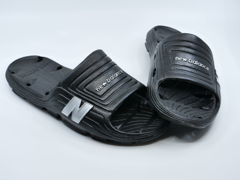 New Balance Mens Black 106 Float Slide Sandals at headbangersports.com