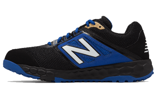 01ad8b4890b0c1 New Balance Men's T3000v4 Turf Shoe (T3000BB4): Black with Blue at  headbangersports.