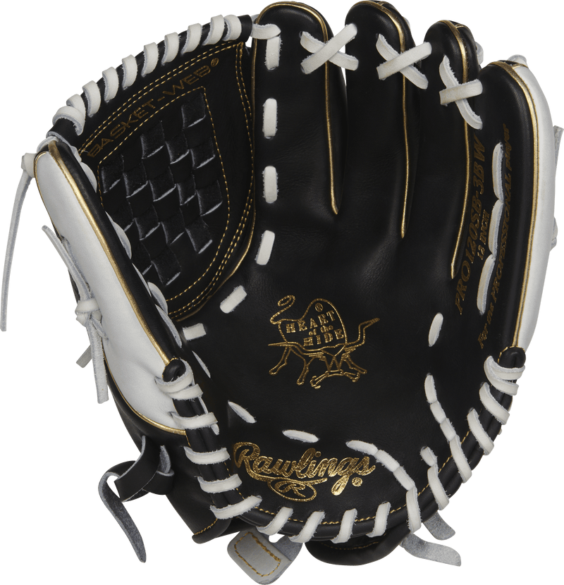 "2018 Rawlings Heart of the Hide 12"" Fastpitch Softball Glove: PRO120SB-3BW"