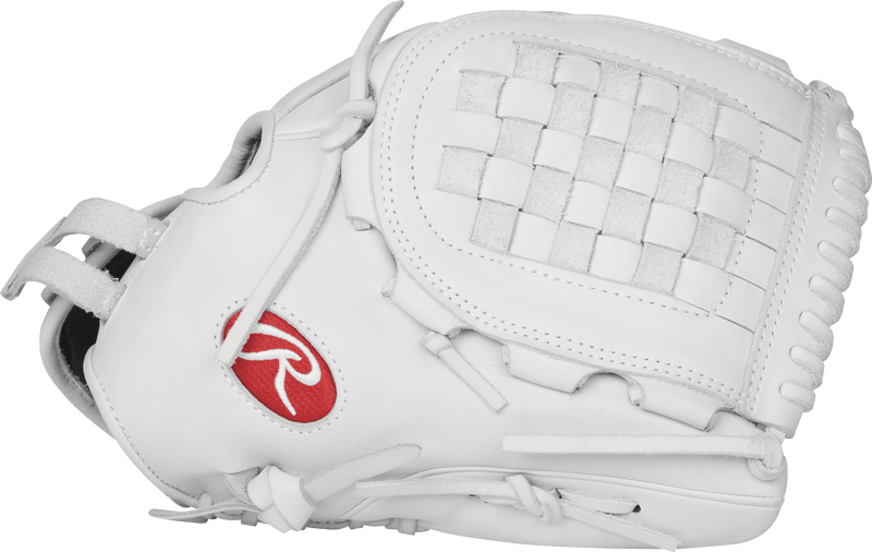 "White Fastpitch Softball 12"" Infield Youth and Adult Glove at headbangersports.com"