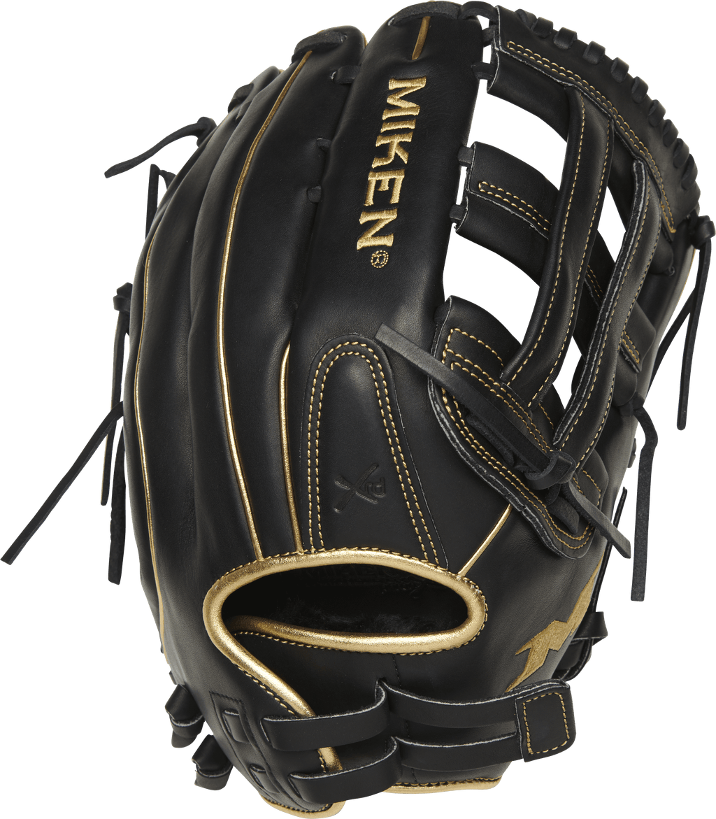 Miken Black Gold PRO Series 13″ Slowpitch Fielding Glove: PRO130-BG