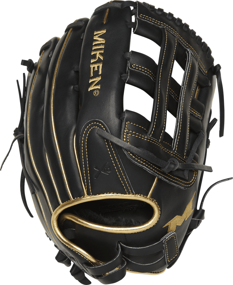 Miken Black & Gold PRO Series 13.5″ LE Slowpitch Fielding Glove: PRO135-BG