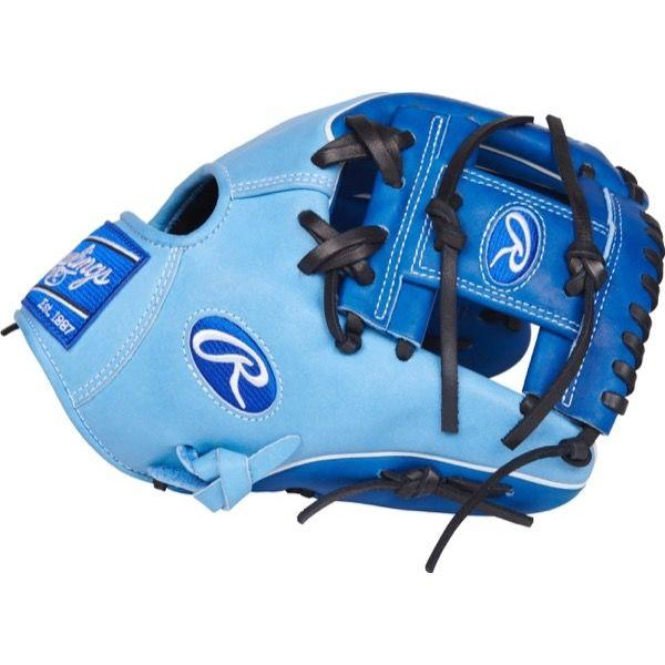 "Side view of Rawlings Heart of the Hide Color Sync 3.0 11.50"" Baseball Glove: PRO204W-2RCB"