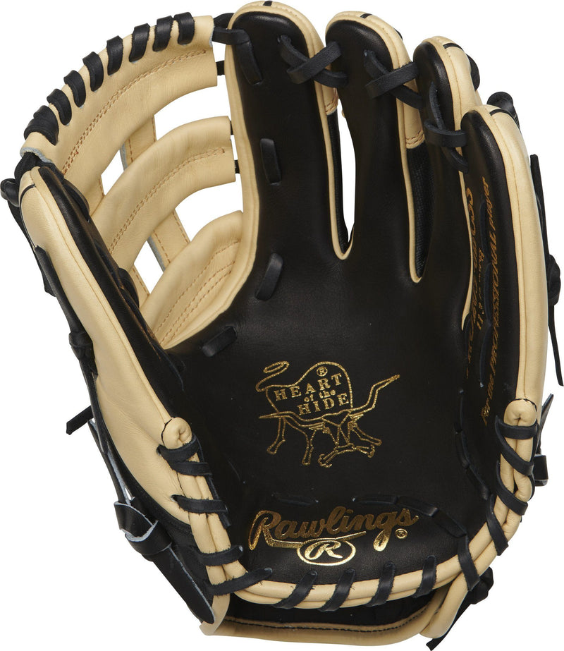 "Inside Palm View of Rawlings Heart of the Hide 11.75"" Baseball Glove: PRO205-6BCSS at headbangersports.com"