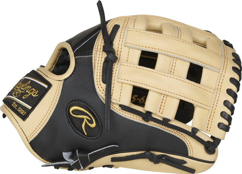 "Side H-Web View of Rawlings Heart of the Hide 11.75"" Baseball Glove: PRO205-6BCSS at headbangersports.com"