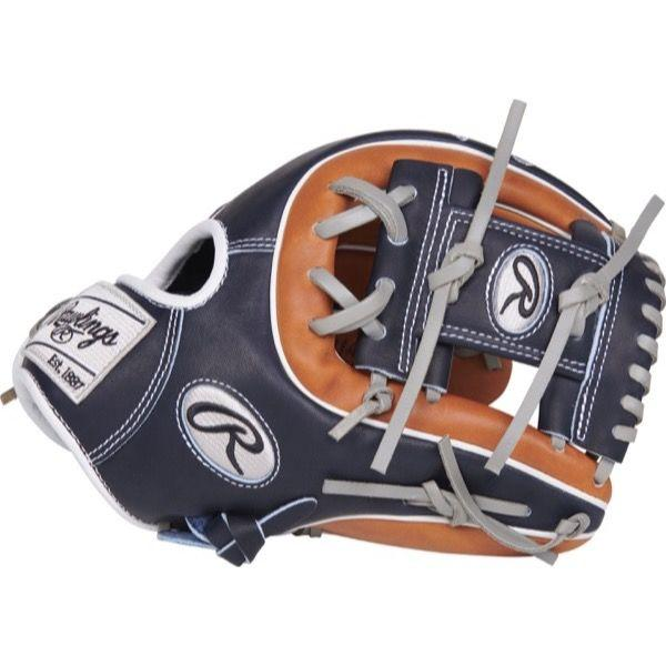 "Side view of Rawlings Heart of the Hide Color Sync 3.0 11.50"" Baseball Glove: PRO314-2GBN at headbangersports.com"