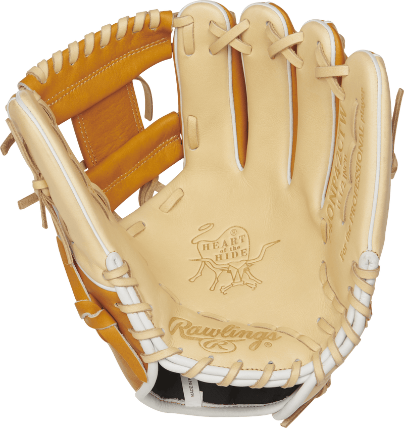 "Blonde and Tan Heart of The Hide ProNP4 11.5"" Right Hand Throw Baseball Glove Palm"