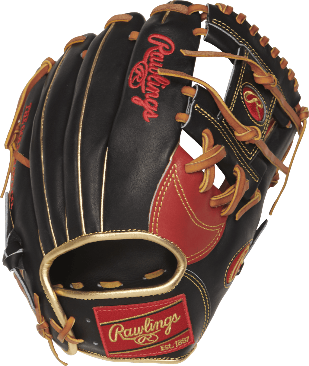"New Black and Red Heart of The Hide 2018 Rawlings Infielder Glove 11.5"" at headbangersports.com"