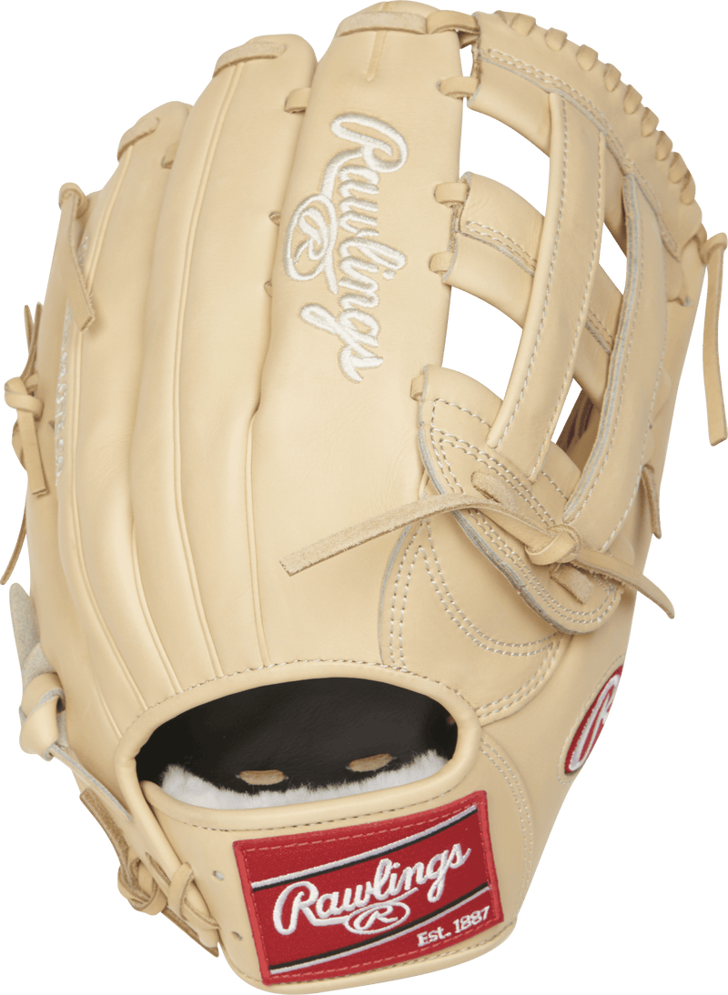 Rawlings Camel Blone H Web Outfield Baseball Glove at headbangersports.com