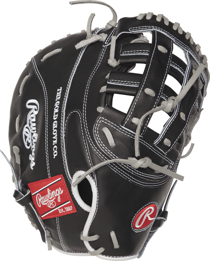 Black and Grey Rawlings Heart of The Hide First Base Mitt