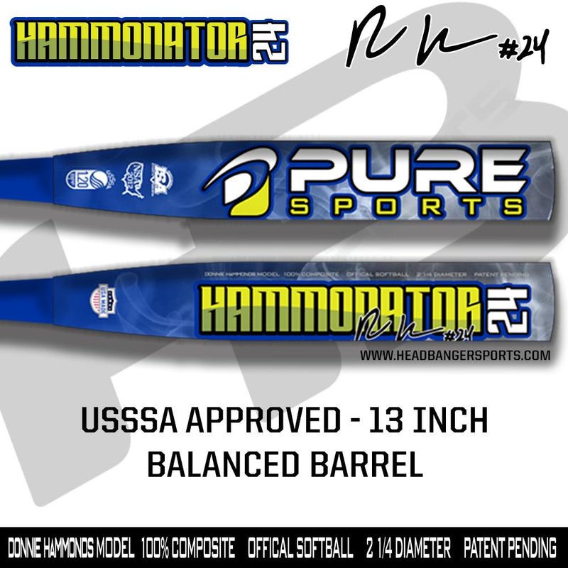 "2019 Pure Sports Donnie Hammonds 13"" USSSA Slowpitch Softball Bat: HAMMONATOR at headbangersports.com"