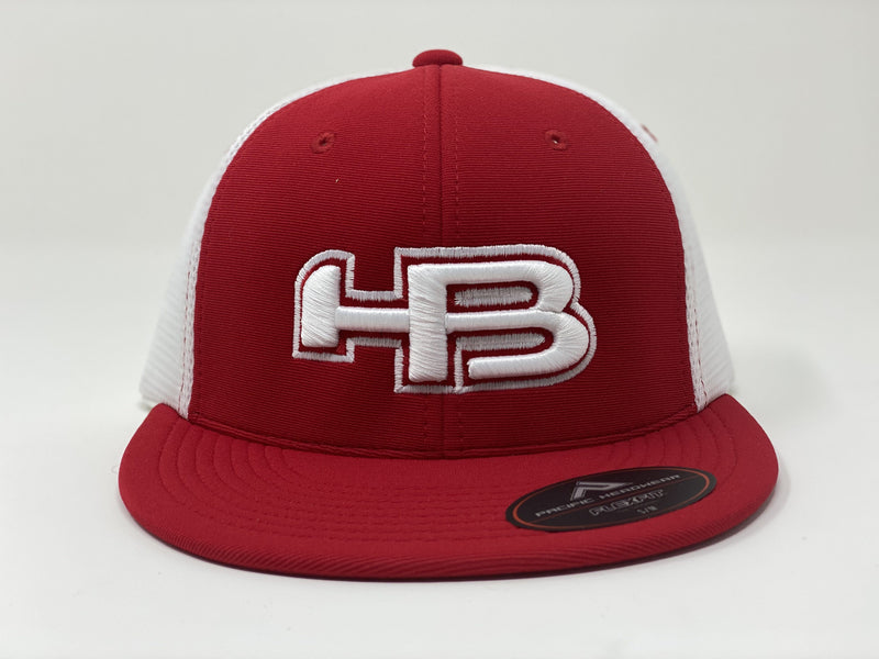 HB Sports Exclusive Pacific ES341 Premium Performance Trucker Flexfit Hat: Redski