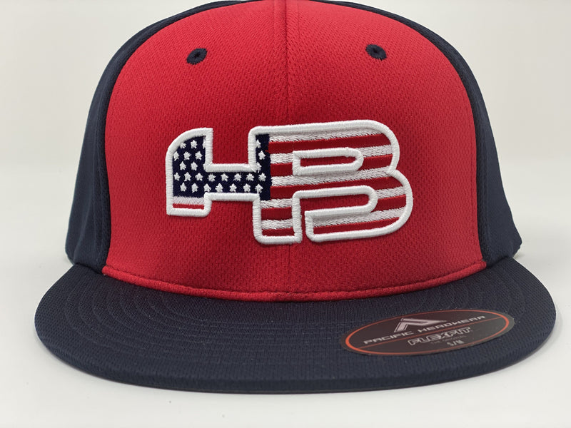 HB Sports Pacific ES342 Premium P-Tec Performance Flexfit Hat: The Patriot