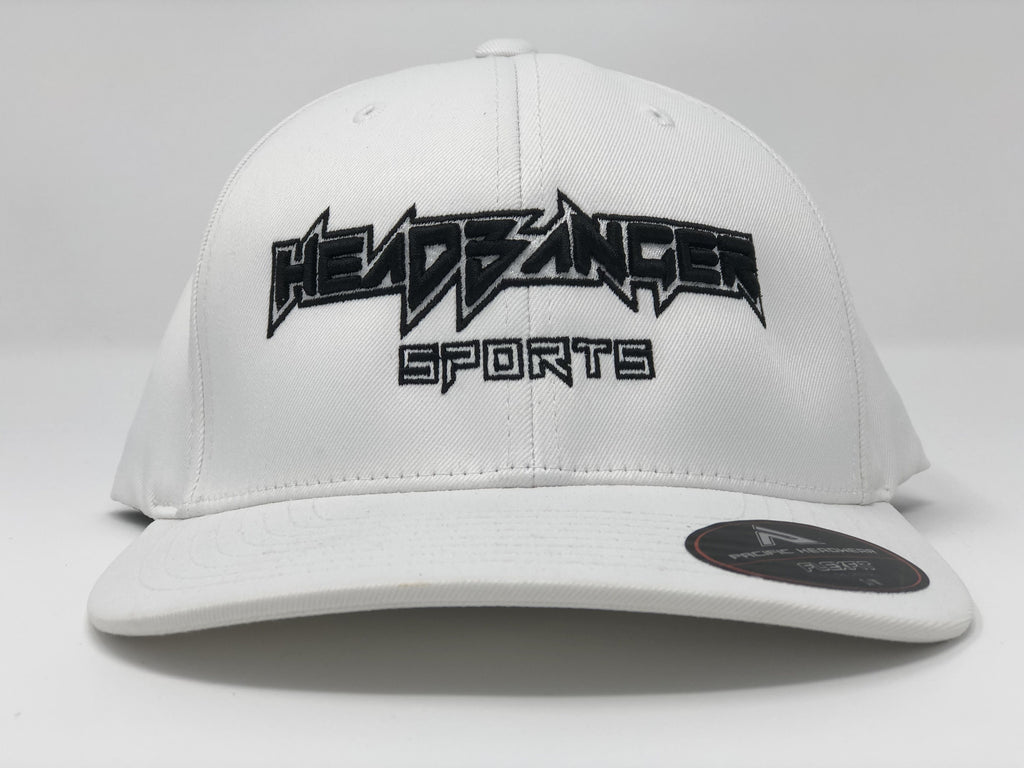 HB Sports Exclusive Pacific 476F White Performance Flex Fit Hat: White Out