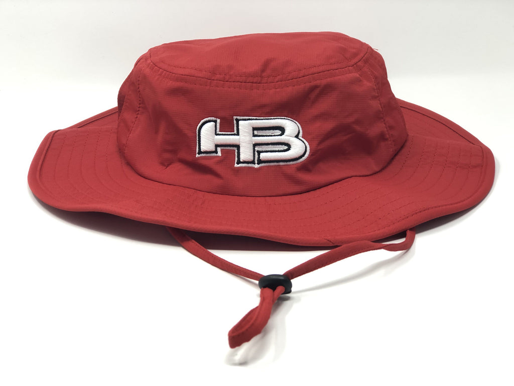 HB Sports Exclusive Pacific 1946 Boonie Bucket Cap: RED