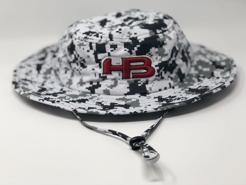 HB Sports Exclusive Pacific 1946 Boonie Bucket Cap: Artic Camo