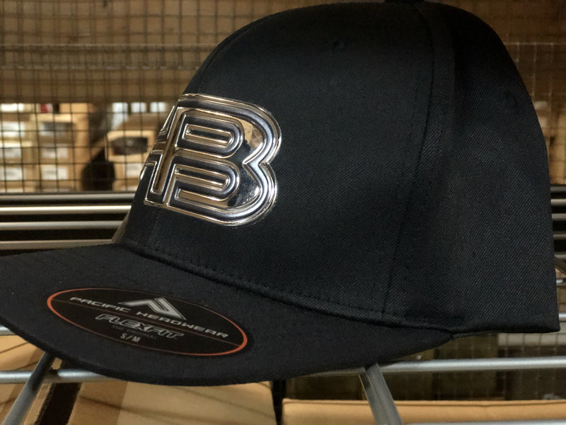 HB Sports Exclusive Pacific 476F Liquid Embroidered Flex Fit Hat: PURE PLATINUM at headbangersports.com