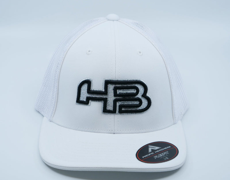 HB Exclusive 404M Fitted Hat: Platinum