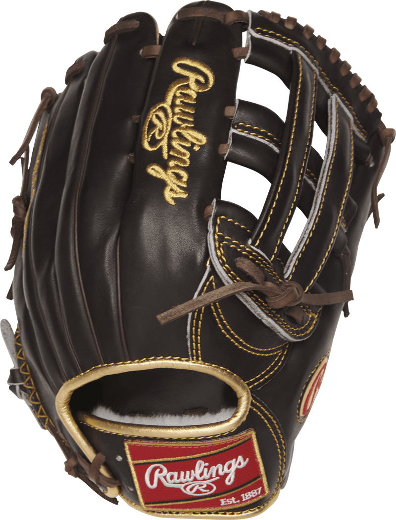 "Rawlings Gold Glove Mocha 12.75"" Baseball Glove at headbangersports.com"