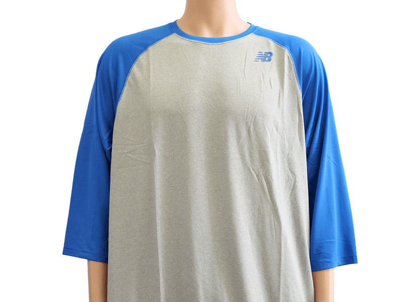 New Balance Team Royal 3/4 Baseball Raglan Top Shirt at headbangersports.com