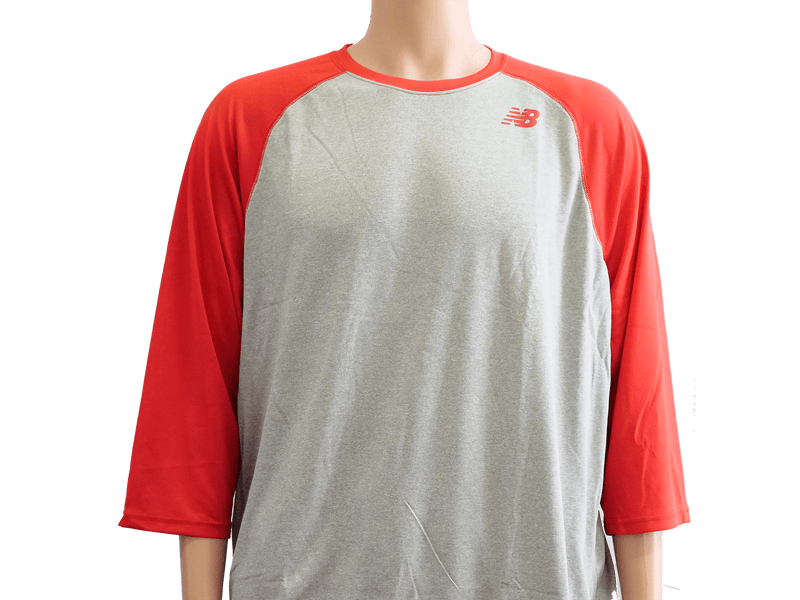 New Balance Team Red 3/4 Baseball Raglan Top Shirt: TMMT601