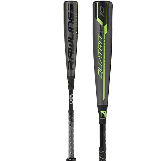 2019 Rawlings Quatro Pro (-10) USA Baseball Bat: US9Q10 at headbangersports.com