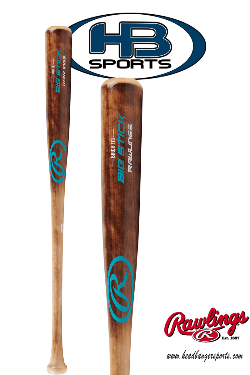2018 Rawlings Big Stick I13 Birch Wood Baseball Bat: I13RBF at headbangersports.com