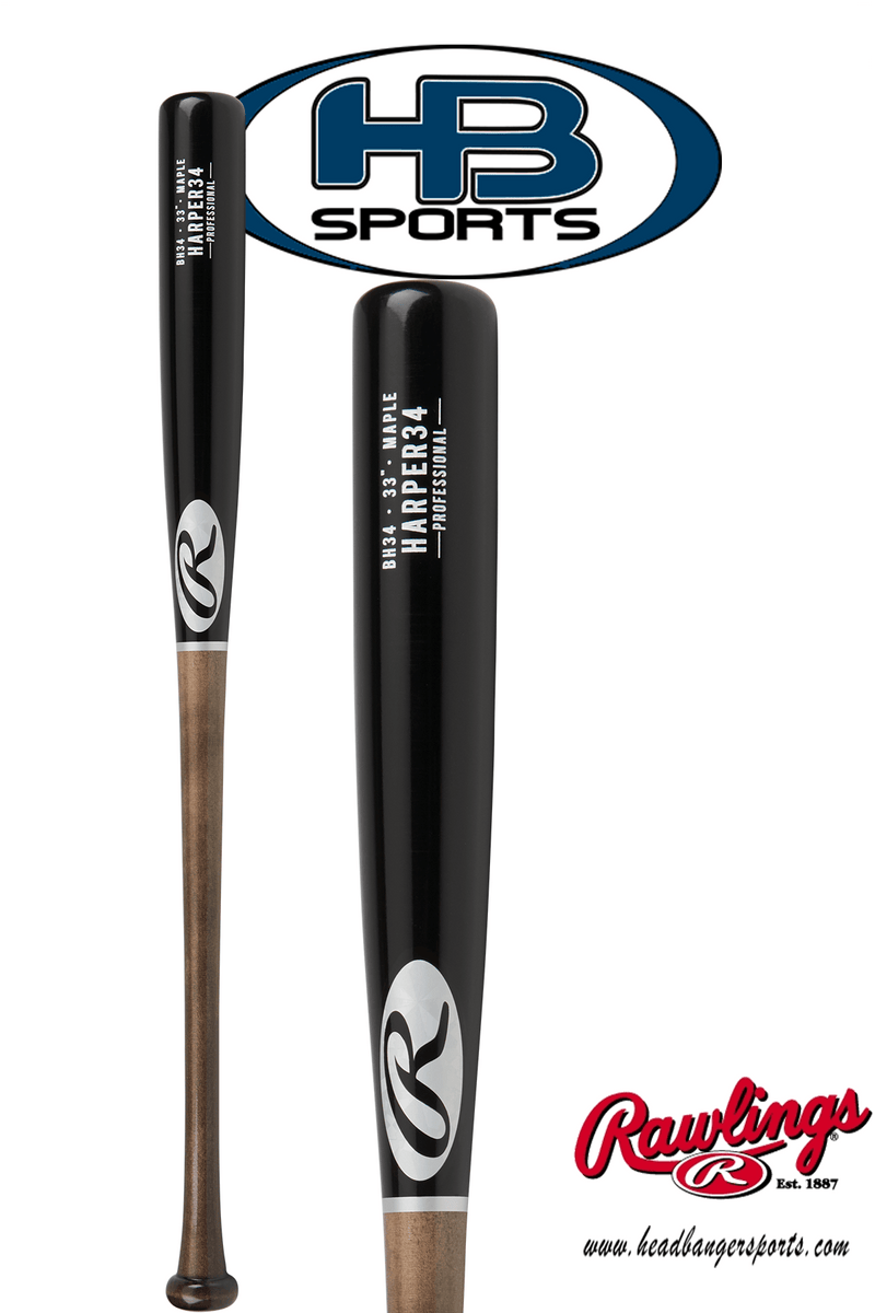 2018 Rawlings Pro Label Bryce Harper Game Day Maple Wood Baseball Bat: BH34PL at headbangersports.com