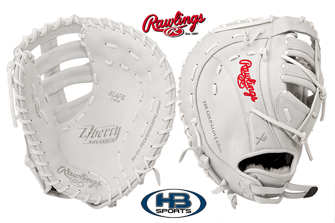 "Rawlings Liberty Advanced 13"" Fastpitch First Base Mitt: RLAFB at headbangersports.com"