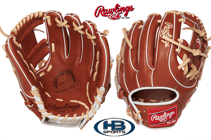 Rawlings Pro Leather Infield 11.5 inch Baseball Glove: Pro Preferred PROS314-2BR