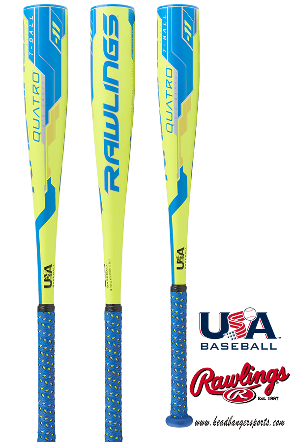 2018 Rawlings Quatro -11 USA Tee Ball Bat: TB8Q11 at headbangersports.com