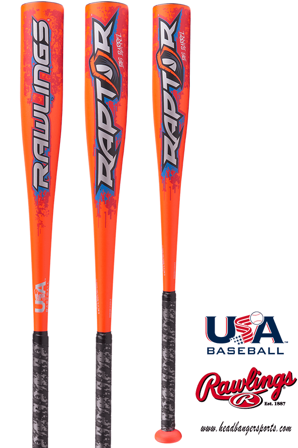 2018 Rawlings Raptor (-8) USA Baseball Bat: US8R8 at headbangersports.com