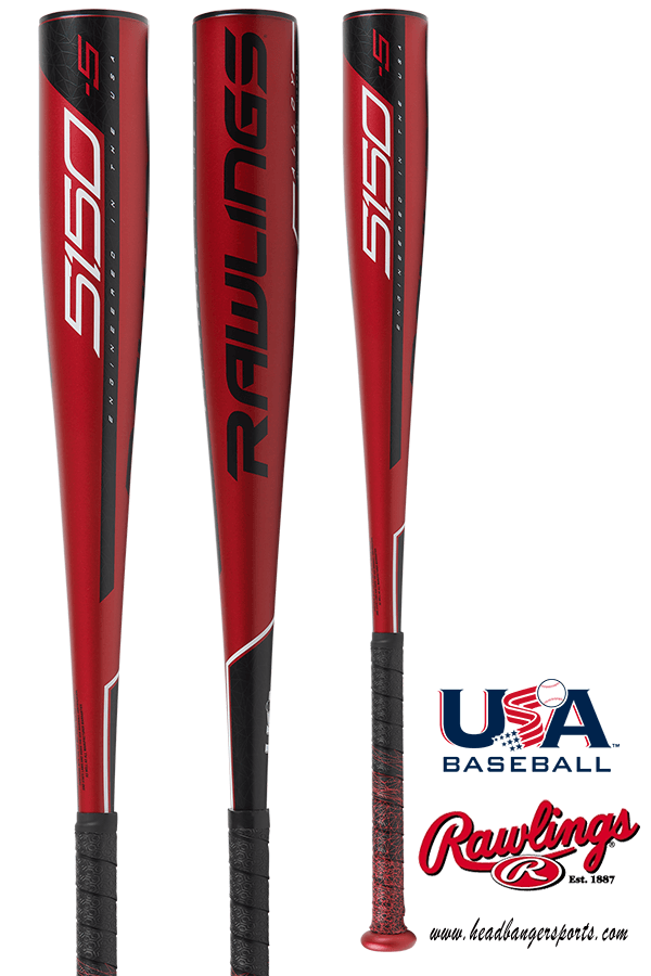 2019 Rawlings 5150 (-5) Alloy Youth USA Baseball Bat: US955 at headbangersports.com