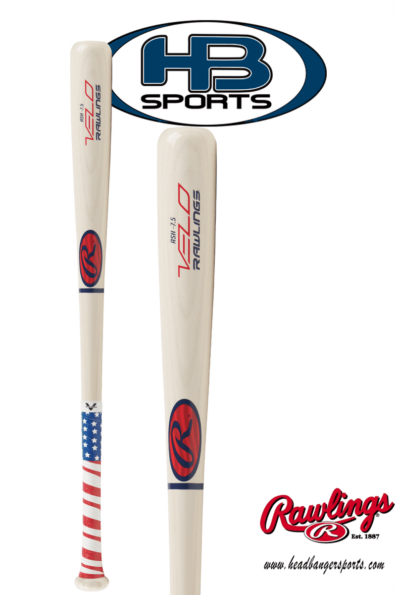2018 Rawlings Velo Youth Ash Wood Bat (-7.5): Y62AV