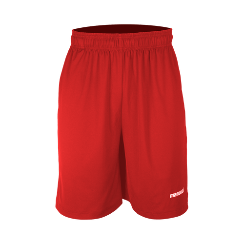 MARUCCI ADULT BASEBALL & SOFTBALL PERFORMANCE SHORTS (RED)