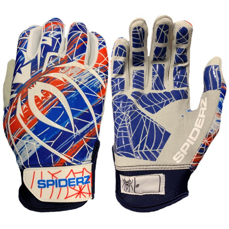 2019 Spiderz LITE Batting Gloves: USA Splash