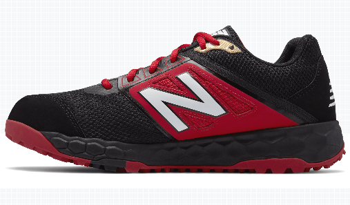 eb841f84856d6 New Balance Men's 3000v4 Turf Shoe (T3000BR4): Black with Red