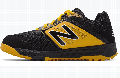 New Balance Men's T3000v4 Turf Shoe (T3000BY4): Black with Yellow at headbangersports.com