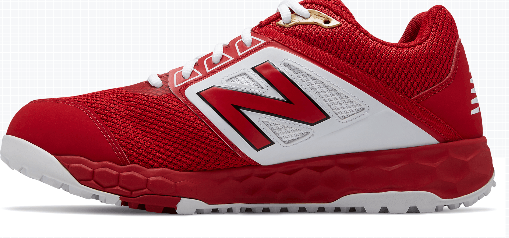 New Balance Men's T3000v4 Turf Shoe (T3000TR4): Red with White at headbangersports.com