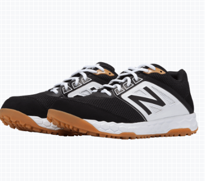 New Balance Men's T3000v4 Turf Shoe (T3000BK4): Black with White at headbangersports.com