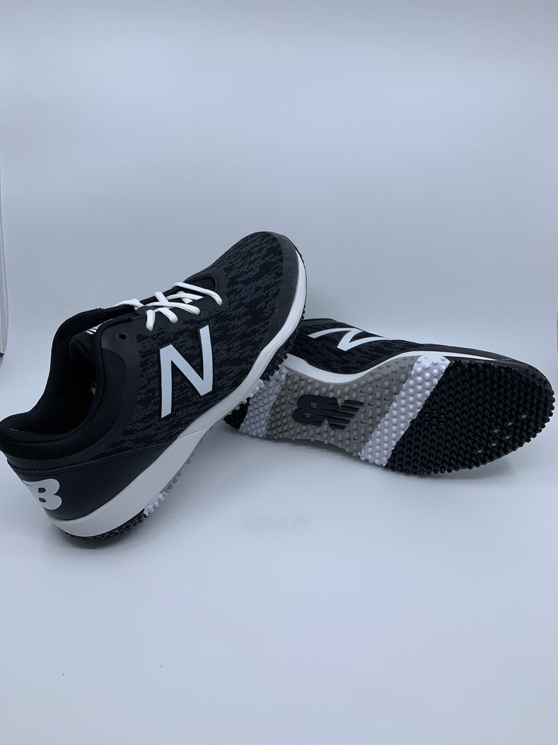 New Balance Men's T4040v5 Baseball and Softball Turf: Black and White with fast free shipping